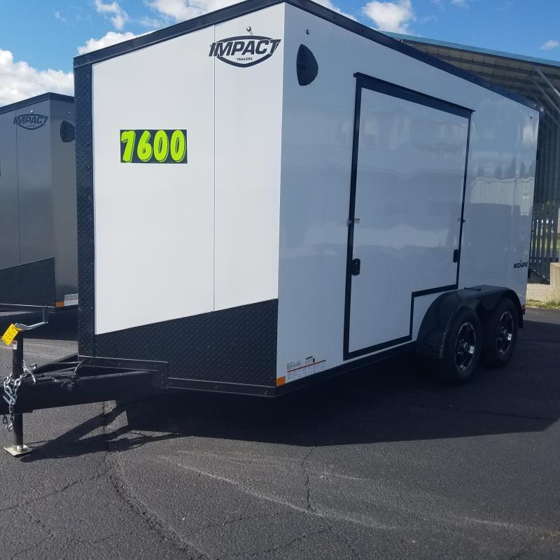 2021 Impact Trailers Shockwave B/o Slope V-nose Cargo / Enclosed Trailer