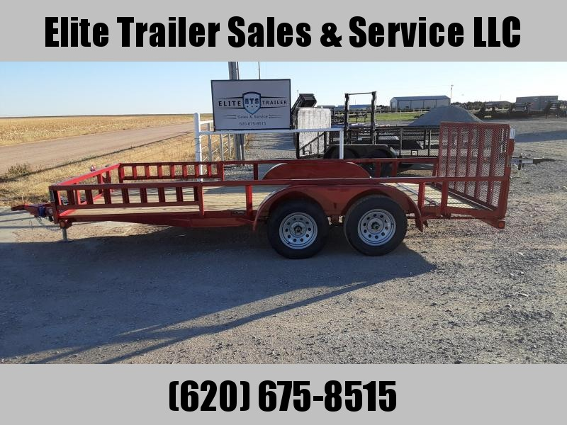 "LOAD TRAIL 83"" X 16' TANDEM AXLE UTILITY (2"" X 3"" ANGLE FRAME)"
