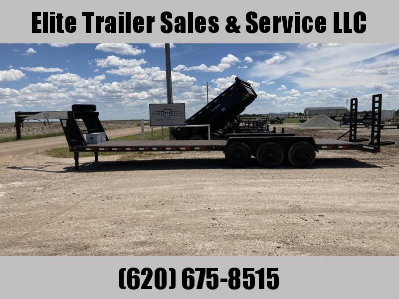 "2001 Eagle Trailer 96"" X 30' TRIPLE AXLE Equipment Trailer"