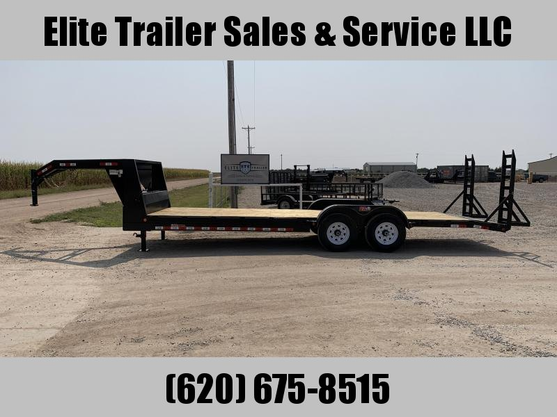 2021 GR Trailers 7' x 24' Low Boy Gooseneck Trailer