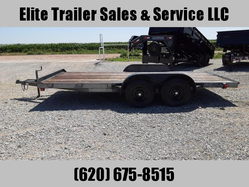"1999 J&C 82"" X 16' Car Hauler Trailer"