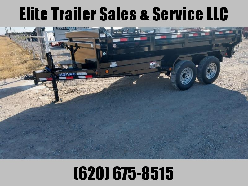 "LOAD TRAIL 83"" X 14' HD TANDEM AXLE DUMP"