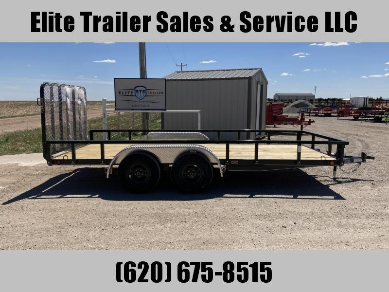 "83"" X 16' TANDEM AXLE UTILITY (4"" CHANNEL FRAME)"