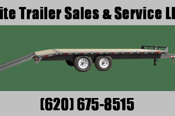 "2021 GR Trailers 102"" x 22' Tandem Axle Deckover (OA8022W14L) Flatbed Trailer"