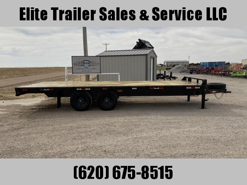 "2021 GR Trailers 102"" x 22' Tandem Axle Deckover (OA8022W14L) Flatbed Trailer"