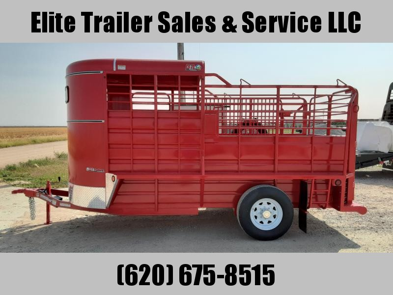 2021 GR Trailers 6' x 14' Bumper Pull Single Axle Stock Trailer (BFST6014W07LR1A) Livestock Trailer