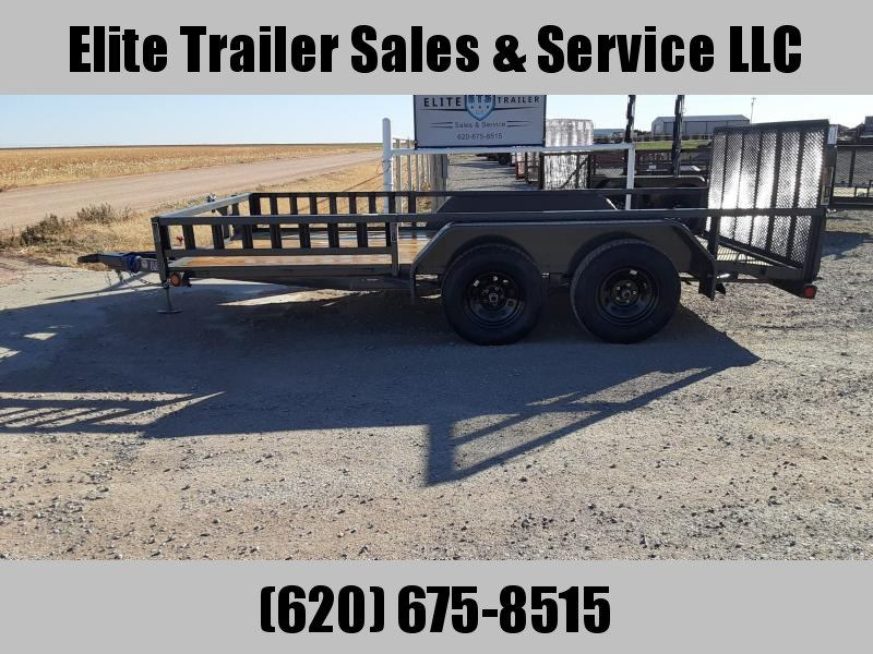 "LOAD TRAIL 83"" X 14' TANDEM AXLE UTILITY (2"" X 3"" ANGLE FRAME)"
