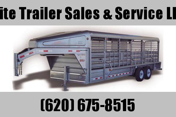 2021 GR Trailers 6.8' x 24' Gooseneck Tandem Axle Trailer (STH6824W14LNR) Livestock Trailer