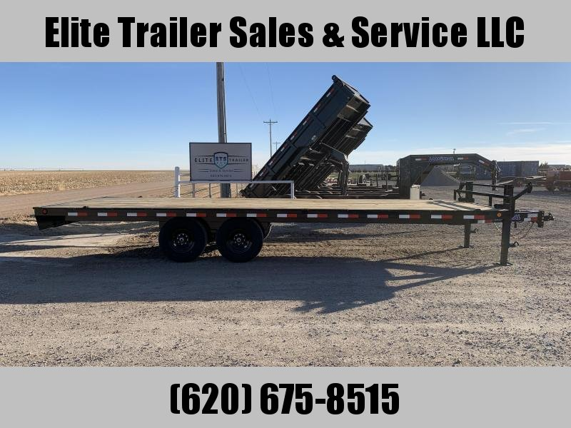 2021 Load Trail DK14 Pintle Hook Deck Over 102 x 24 Equipment Trailer