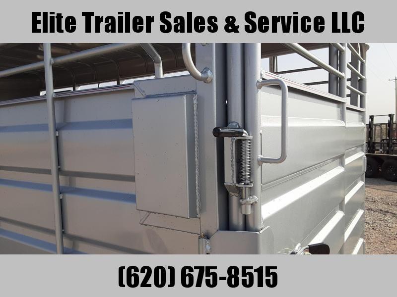 2021 GR Trailers 6.8' x 16' Bumper Pull Tamden Axle Stock Trailer ( BFST6816W10LR) Livestock Trailer