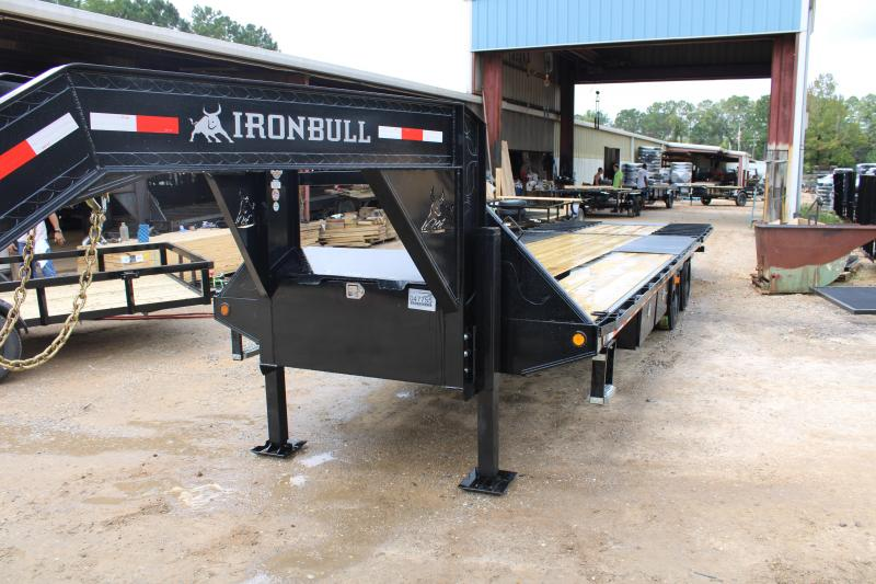"Iron Bull 102""X30' 24K Gooseneck w/ Hydraulic Dovetail"