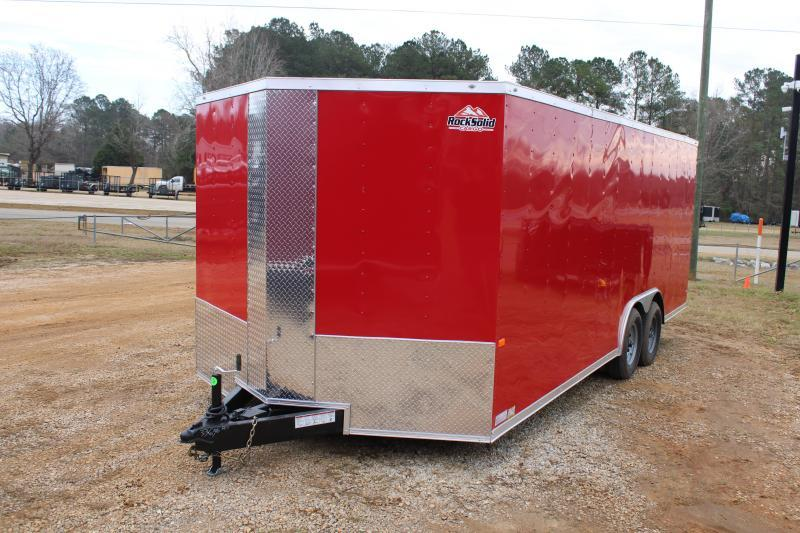 Rock Solid 8.5'X20' 10K Red Enclosed Trailer