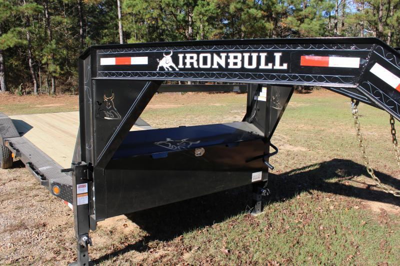 """Iron Bull 102""""x24' 14K Gooseneck Car Hauler"""
