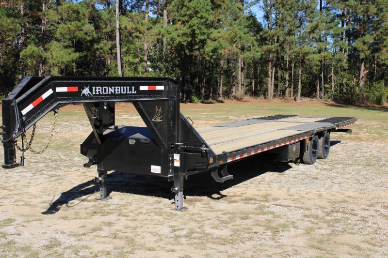 "Iron Bull 102""x32' 20K Gooseneck W/ Hydraulic Dovetail"