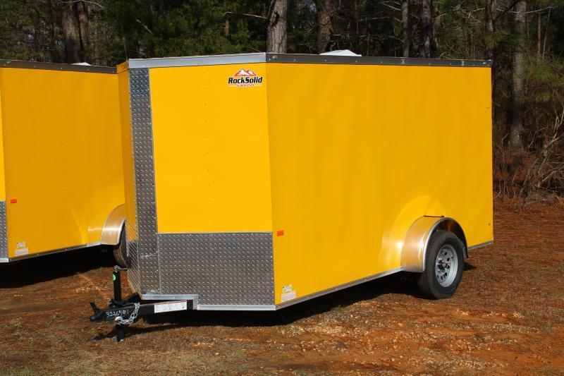 Rock Solid 6'X12'SA Yellow Enclosed Trailer