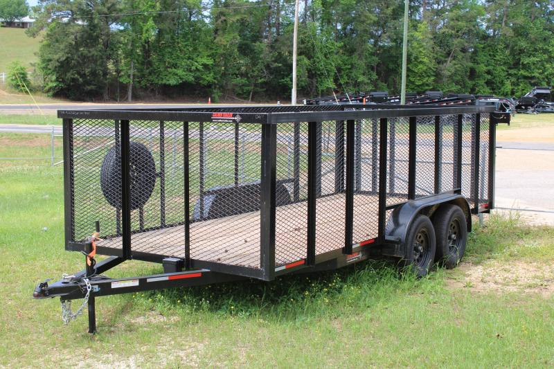 Trailer World 7'X16' 7K Utility Trailer W/ 4' Mesh Sides