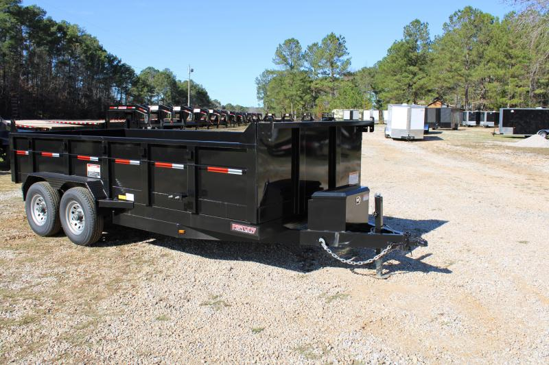 Port City 7'X16' 14K Tandem Axle Dump Trailer