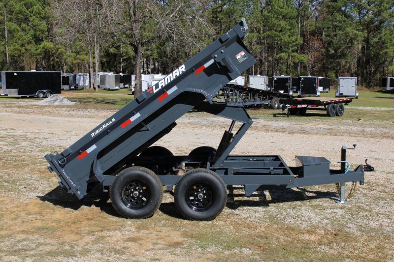 "Lamar 77""X12' Tandem Axle 10K Dump Trailer"