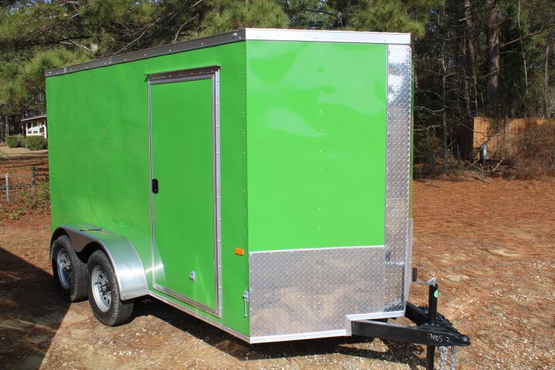 Rock Solid 6'X12'TA 7K Green Enclosed Trailer