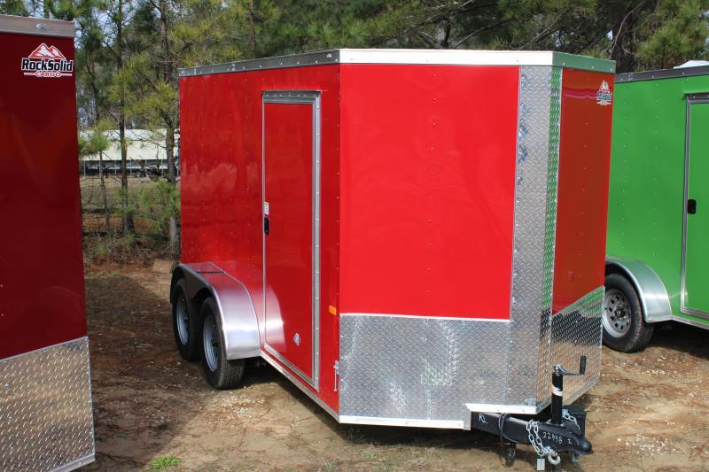 Rock Solid 6'X12'TA 7K Red Enclosed Trailer