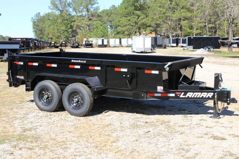 "Lamar 83""X16' Tandem Axle 14K Black Dump Trailer"