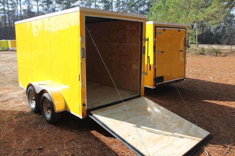 Rock Solid 6'X12' 7K Yellow Enclosed Trailer