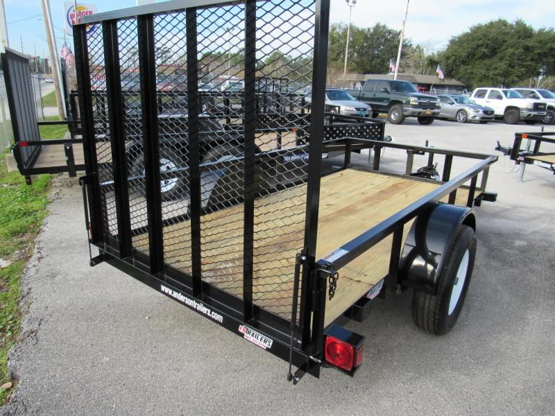 2021 Anderson Manufacturing 5X10 Utility Trailer
