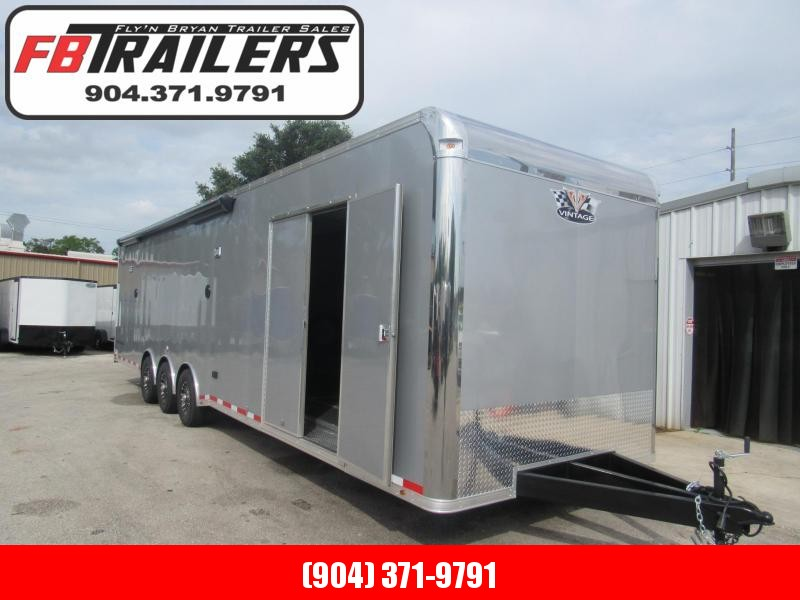 2021 Vintage Trailers 34ft Pro Stock Bath Package Car / Racing Trailer