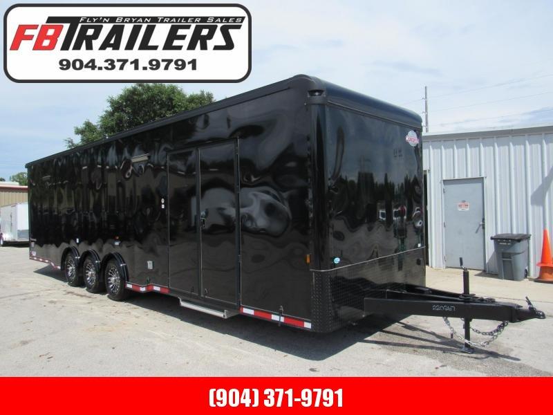 2021 Cargo Mate 32ft Black Out Eliminator Car / Racing Trailer