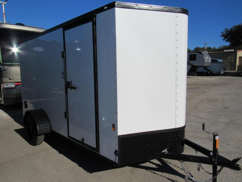 2021 Continental Cargo 6X12 Black Out Trim Enclosed Cargo Trailer