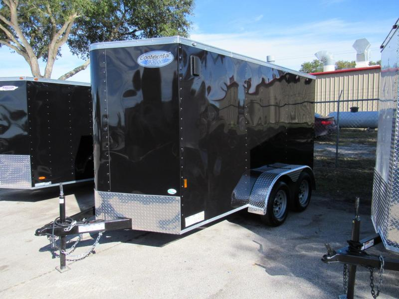 2021 Continental Cargo 6X12 Tandem Enclosed Cargo Trailer