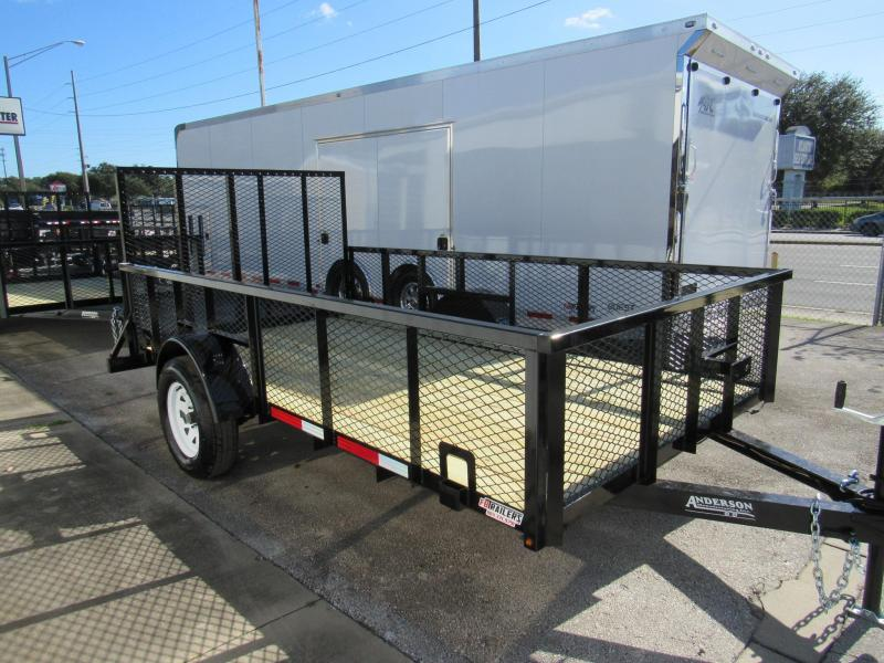 2020 Anderson Manufacturing 6X12 with Mesh Sides Utility Trailer