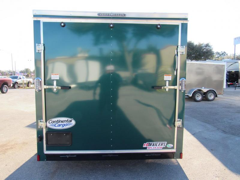 2021 Green 7X12 Enclosed Cargo Trailer