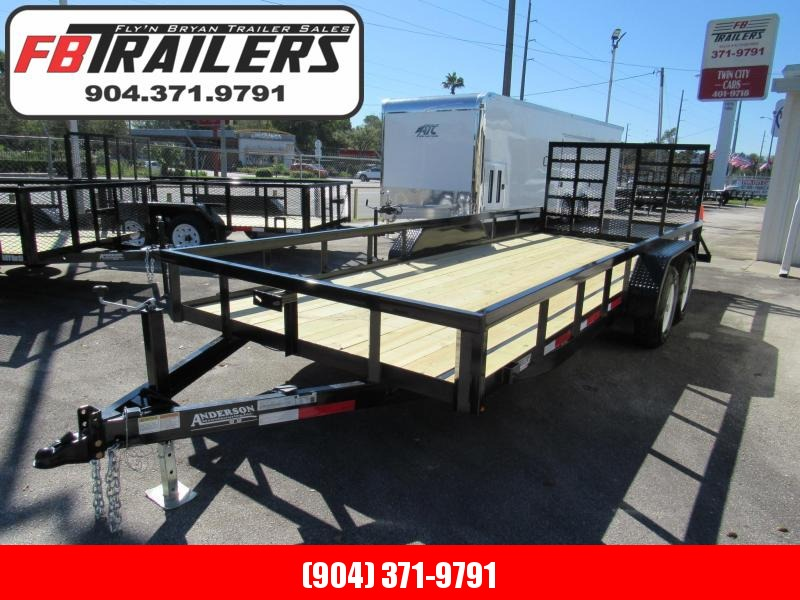 2020 Anderson Manufacturing 7X20 HD Ramp 5200lb Axles Utility Trailer
