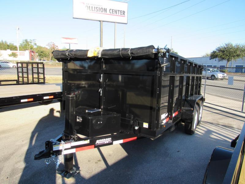 2020 Anderson Manufacturing 7X14 4ft High Side with Hydraulic Jack Dump Trailer
