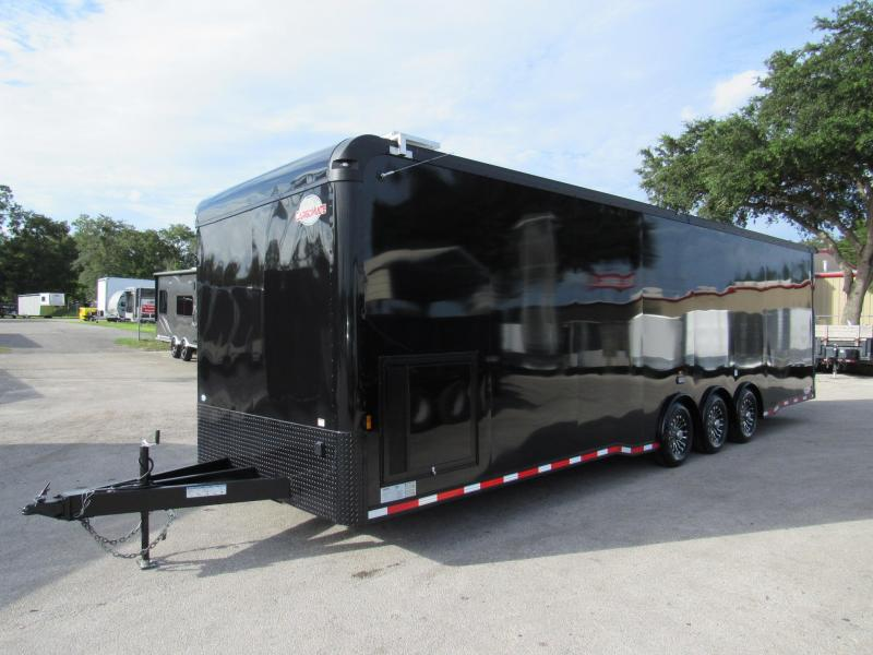 2021 Cargo Mate 32ft Black Out Eliminator Series Car / Racing Trailer