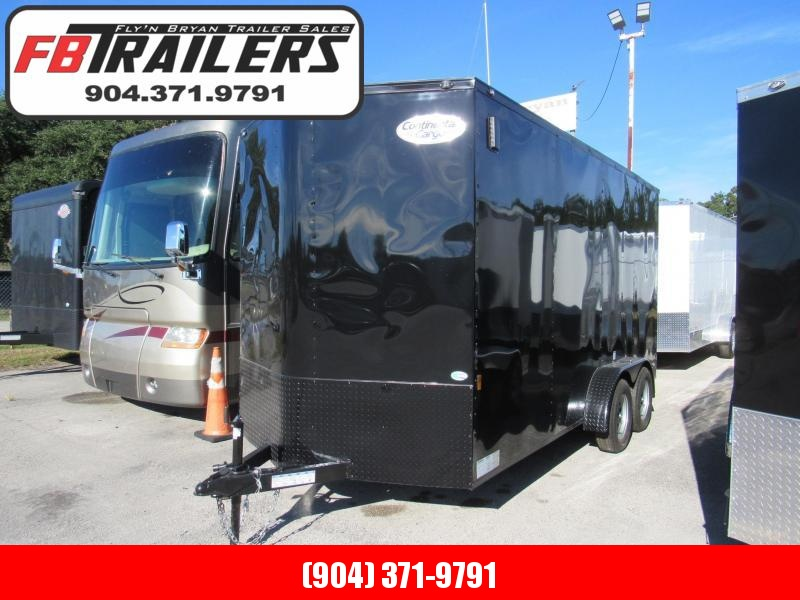 """2022 Continental Cargo 7X16 Black Out 12"""" Added Height Enclosed Cargo Trailer"""