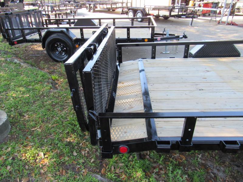 2021 PJ Trailers 7X14 5200lb Axle Utility Trailer