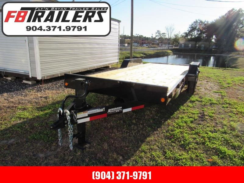 2020 Anderson Manufacturing EQ722T 22ft Full Width X Ramps Equipment Trailer