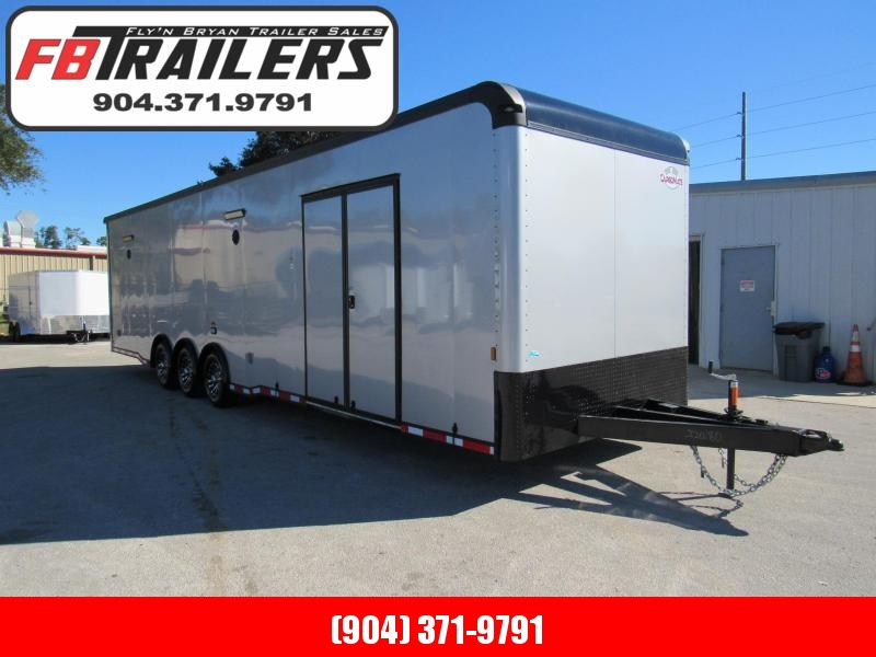 2021 Cargo Mate 34ft Silver Black out Eliminator Car / Racing Trailer