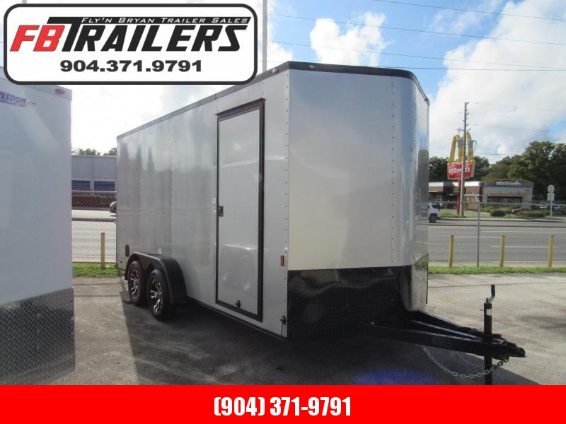 """2021 Continental Cargo 7X16 12"""" Additional Height Black Out Enclosed Cargo Trailer"""