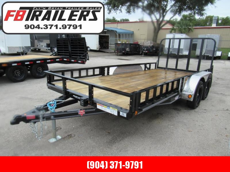 2021 PJ Trailers 7X16 with ATV side Ramps Utility Trailer