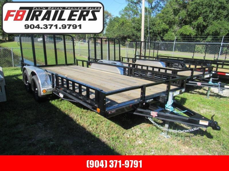 2022 PJ Trailers 7X16 ATV Removable Sides Utility Trailer