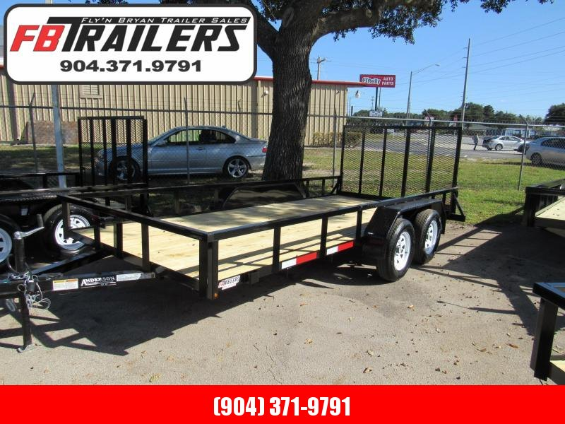 2021 Anderson Manufacturing 7X16 Utility Trailer