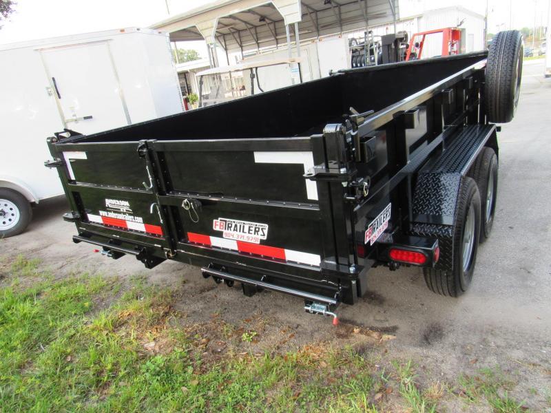 2022 Anderson Manufacturing 7X14 7 Ton Dump Trailer