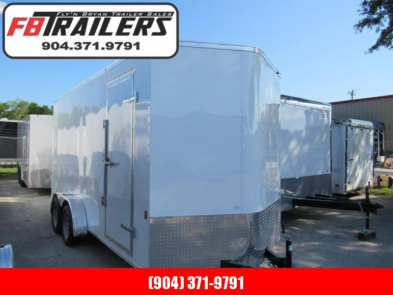 """2021 Continental Cargo 7X16 with 6"""" Added Height Enclosed Cargo Trailer"""
