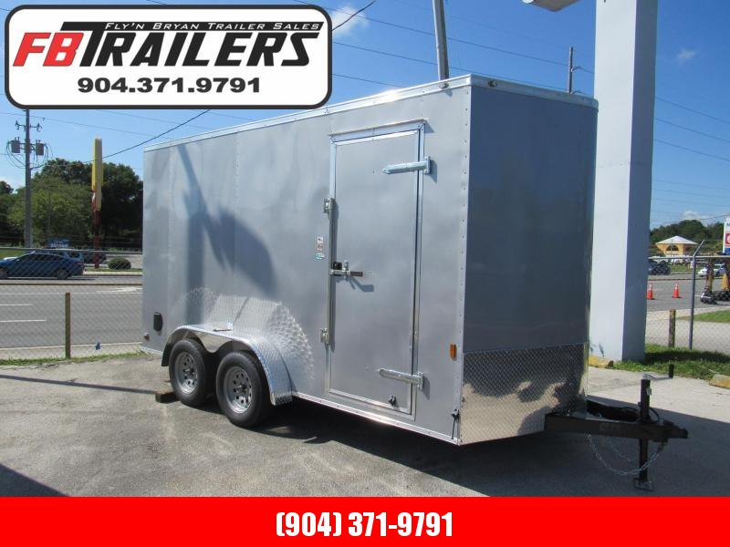 2021 Continental Cargo 7X14 with 1ft Added Height Enclosed Cargo Trailer