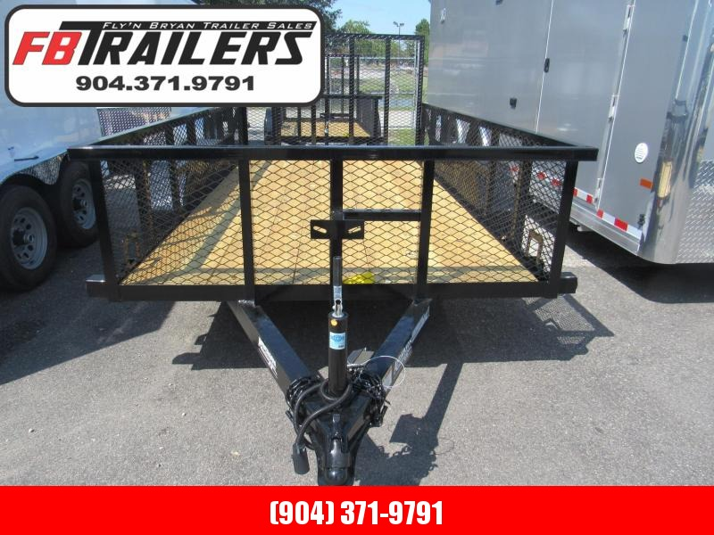 2020 Anderson Manufacturing 6X12 Tandem with 2ft Mesh Sides Utility Trailer