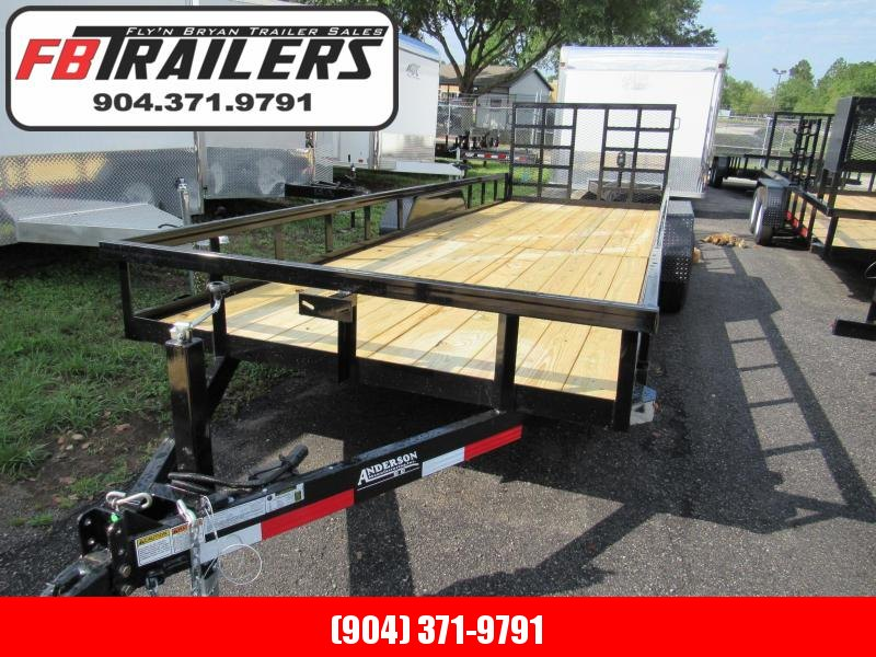 2020 Anderson Manufacturing 7X22 with HD Ramp Utility Trailer