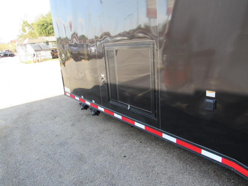 2021 Cargo Mate 34Ft Black Out Bath Package Eliminator Car / Racing Trailer